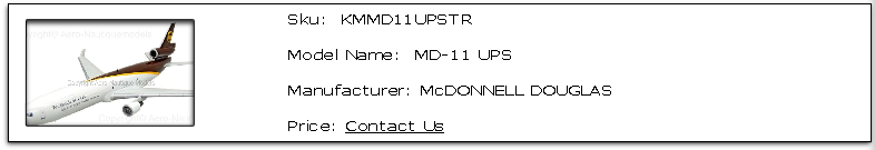 MD-11 UPS Sku: KMMD11UPSTR